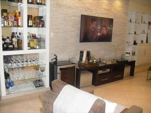 ref.: 285400 - apartamento em santos, no bairro pompeia - 3 dormitórios