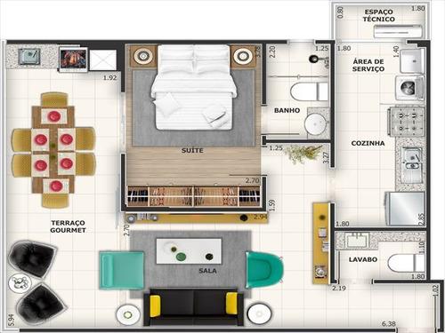 ref.: 2863 - apartamento em praia grande, no bairro canto do forte - 1 dormitórios