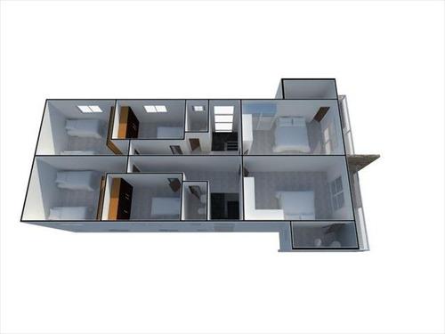 ref.: 2865 - casa em praia grande, no bairro guilhermina - 3 dormitórios