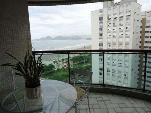 ref.: 290900 - apartamento em santos, no bairro aparecida - 4 dormitórios
