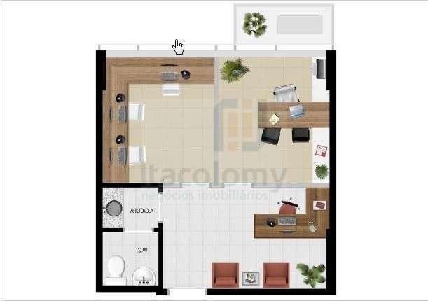 ref: 2936 sala office grajaú - 2936