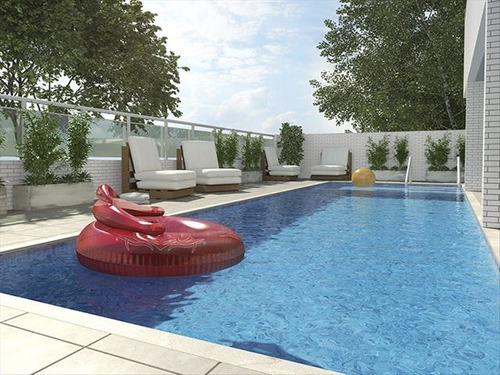 ref.: 3025 - apartamento em praia grande, no bairro guilhermina - 2 dormitórios