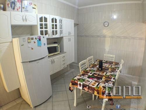 ref.: 3049 - casa em praia grande, no bairro guilhermina - 3 dormitórios
