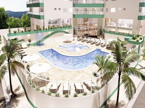 ref.: 3050 - apartamento em praia grande, no bairro guilhermina - 1 dormitórios