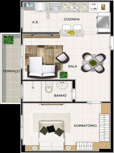 ref.: 3050 - apartamento em praia grande, no bairro tupi - 1 dormitórios