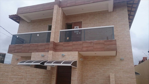 ref.: 30700 - casa em itanhaém, no bairro jardim magalhães - 2 dormitórios