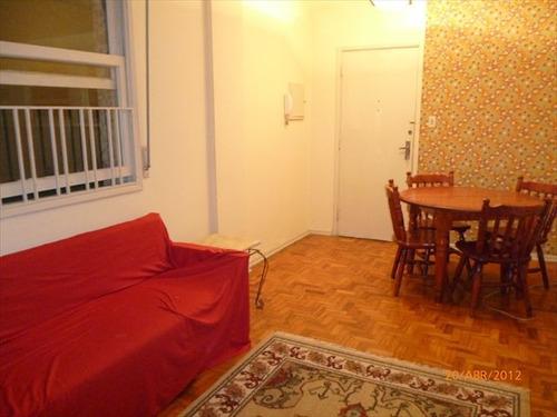 ref.: 3071 - apartamento em santos, no bairro aparecida - 2 dormitórios