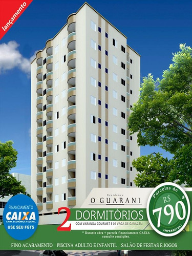ref.: 3075 - apartamento em praia grande, no bairro ocian - 2 dormitórios