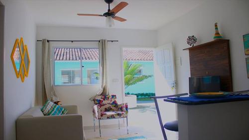ref.: 31 - casa condomínio fechado em itanhaém, no bairro umuarama - 2 dormitórios