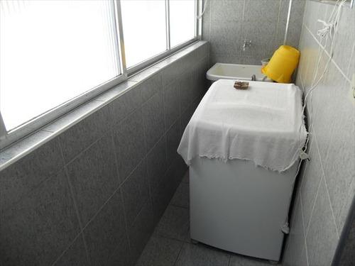 ref.: 3156 - apartamento em praia grande, no bairro guilhermina - 2 dormitórios