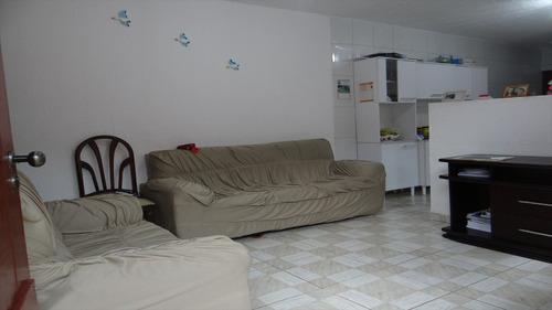 ref.: 316701 - casa em mongaguá, no bairro itaguai - 2 dormitórios
