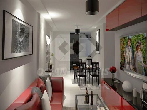 ref.: 318 - apartamento em praia grande, no bairro aviacao - 2 dormitórios