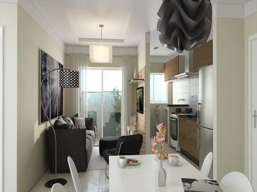 ref.: 3189 - apartamento em praia grande, no bairro guilhermina - 2 dormitórios