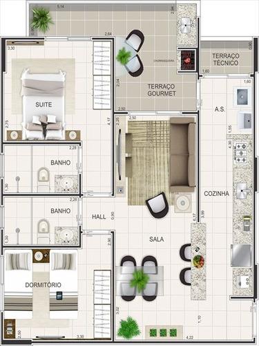 ref.: 3194 - apartamento em praia grande, no bairro ocian - 2 dormitórios