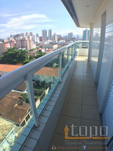 ref.: 3203 - apartamento em praia grande, no bairro boqueirao - 2 dormitórios
