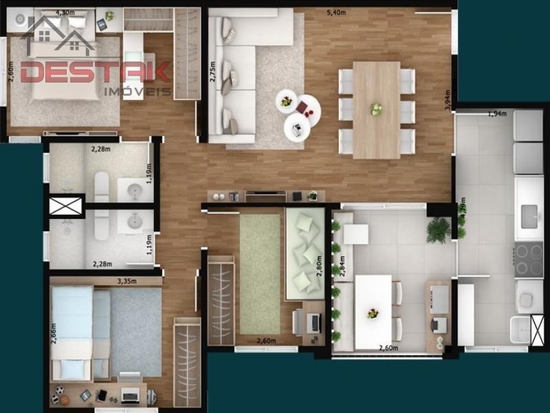 ref.: 3233 - apartamento em jundiaí para venda - v3233