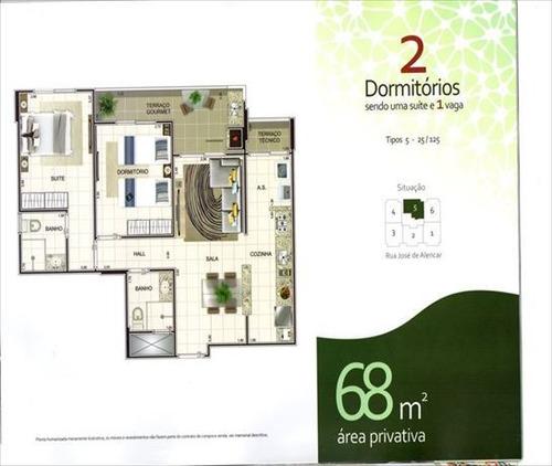 ref.: 3238 - apartamento em praia grande, no bairro ocian - 2 dormitórios