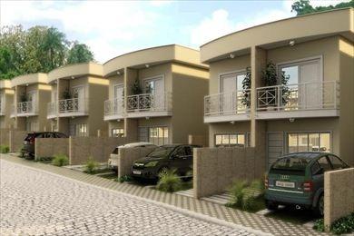ref.: 3254 - casa condomínio fechado em cotia, no bairro duo granja viana - 2 dormitórios