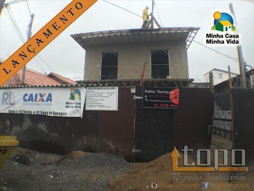 ref.: 3263 - casa condomínio fechado em praia grande, no bairro sitio do campo - 2 dormitórios