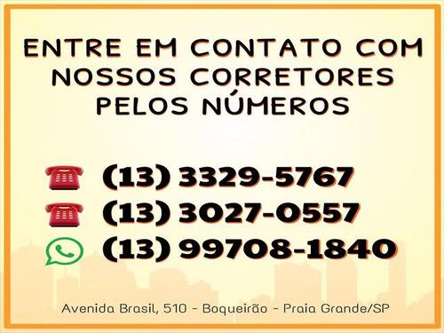 ref.: 3289 - apartamento em praia grande, no bairro boqueirao - 1 dormitórios