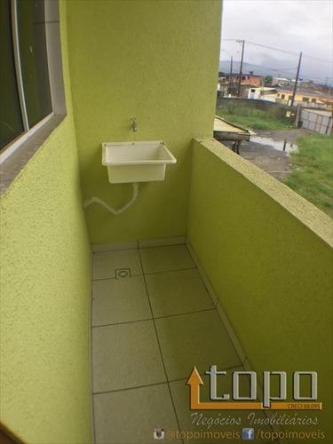 ref.: 3308 - casa em praia grande, no bairro ribeiropolis - 2 dormitórios