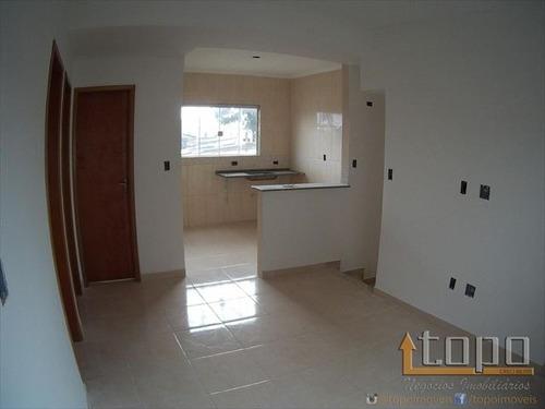 ref.: 3318 - casa condomínio fechado em praia grande, no bairro antartica - 2 dormitórios