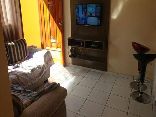 ref.: 3348 - casa condomínio fechado em praia grande, no bairro maracana - 1 dormitórios