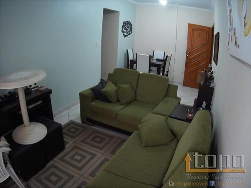 ref.: 3352 - apartamento em praia grande, no bairro guilhermina - 1 dormitórios
