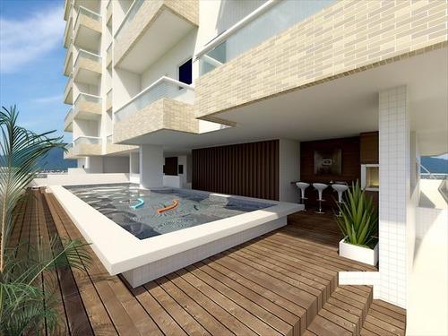 ref.: 3356 - apartamento em praia grande, no bairro boqueirao - 2 dormitórios