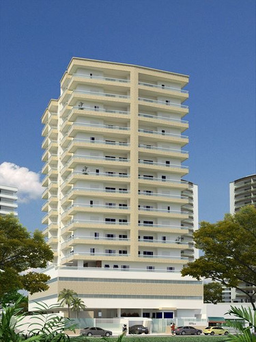 ref.: 3358 - apartamento em praia grande, no bairro boqueirao - 2 dormitórios