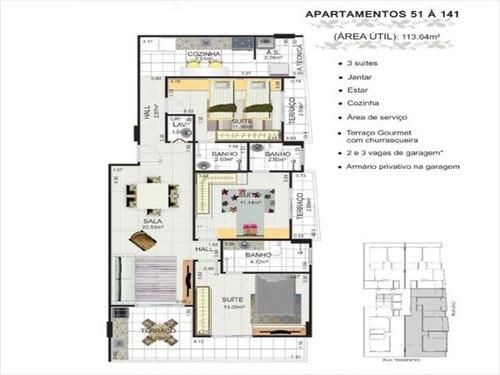 ref.: 3361 - apartamento em praia grande, no bairro canto do forte - 2 dormitórios