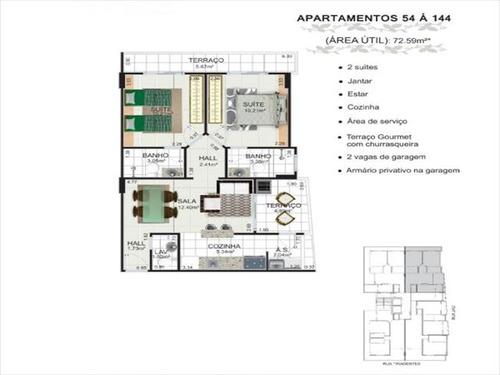 ref.: 3363 - apartamento em praia grande, no bairro canto do forte - 2 dormitórios