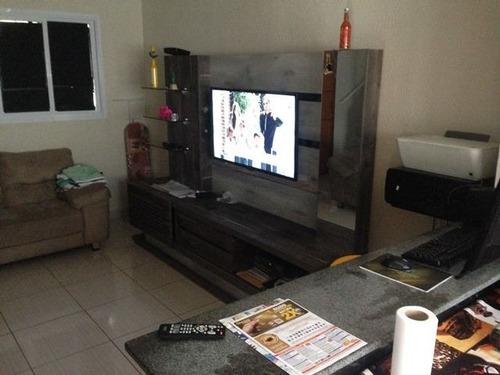 ref.: 3375 - casa condomínio fechado em praia grande, no bairro guilhermina - 2 dormitórios