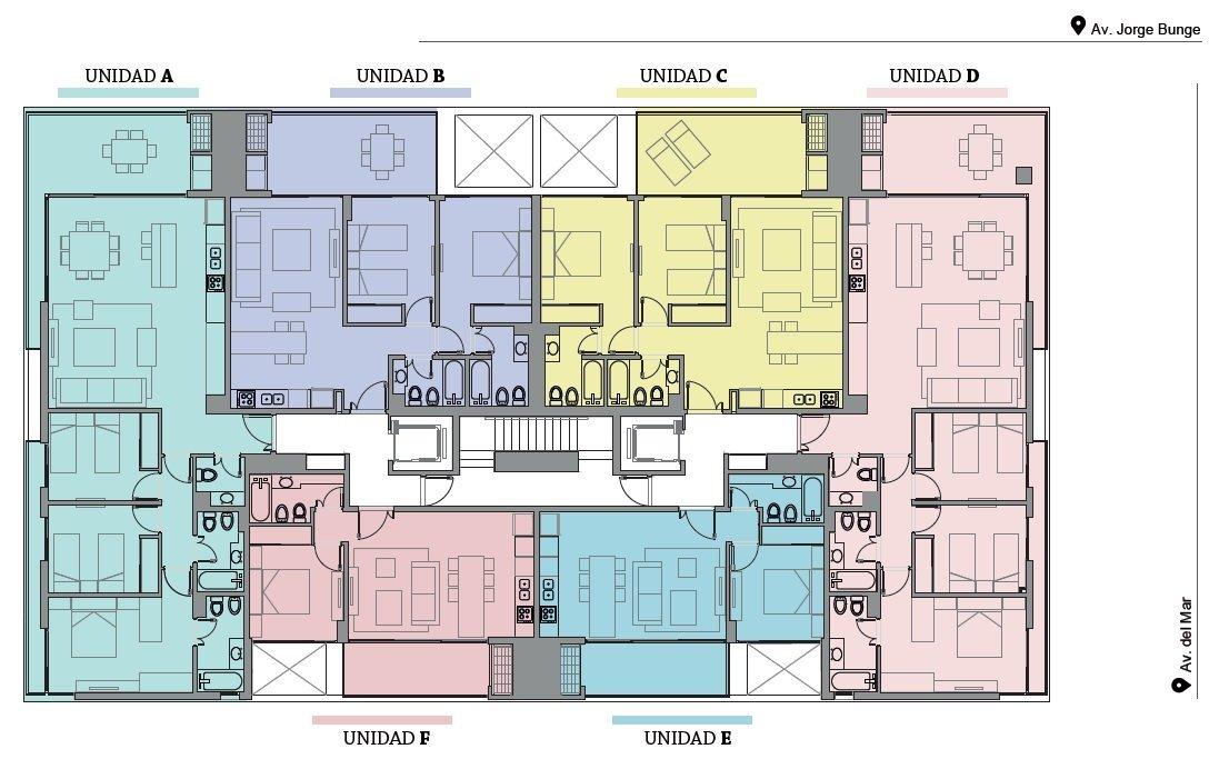 ref: 3409 - en venta - departamento premium - pinamar, zona centro playa