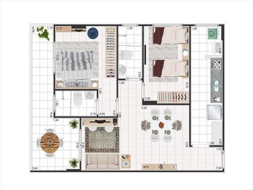 ref.: 3457 - apartamento em praia grande, no bairro ocian - 2 dormitórios