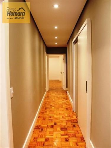ref.: 346 - apartamento em sao paulo, no bairro higienópolis - 3 dormitórios