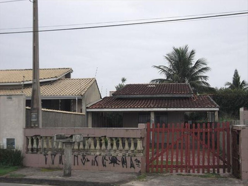 ref.: 346 - casa em itanhaem, no bairro cibratel ii - 2 dormitórios