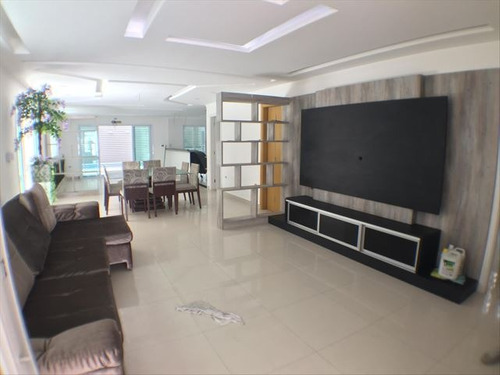 ref.: 3460 - casa em praia grande, no bairro canto do forte - 3 dormitórios