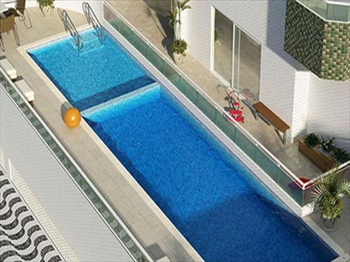 ref.: 3467 - apartamento em praia grande, no bairro guilhermina - 2 dormitórios