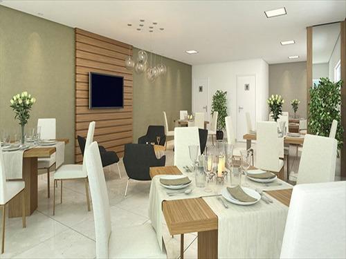 ref.: 3470 - apartamento em praia grande, no bairro guilhermina - 2 dormitórios