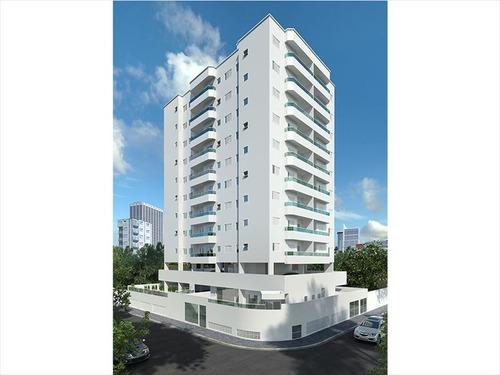 ref.: 3474 - apartamento em praia grande, no bairro guilhermina - 2 dormitórios