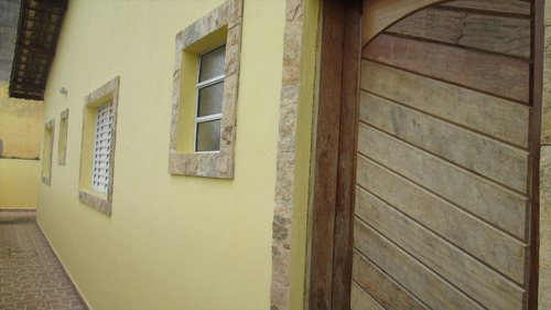 ref.: 34800 - casa em itanhaém, no bairro bal tupy - 2 dormitórios