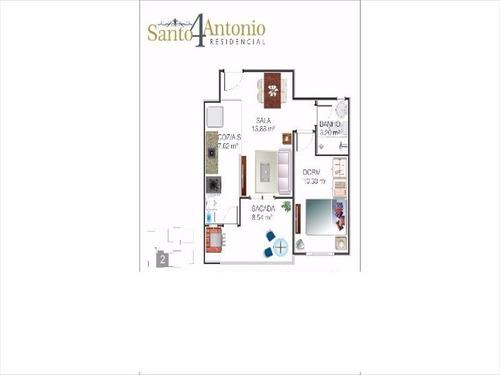 ref.: 3499 - apartamento em praia grande, no bairro mirim - 1 dormitórios