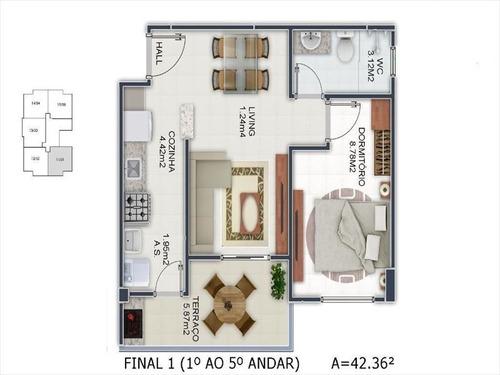 ref.: 3507 - apartamento em praia grande, no bairro mirim - 1 dormitórios