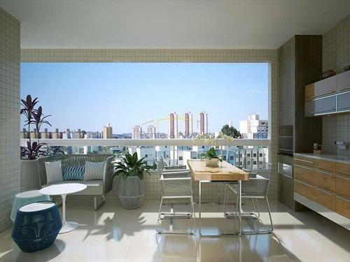ref.: 3517 - apartamento em praia grande, no bairro guilhermina - 1 dormitórios