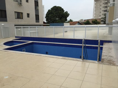 ref.: 3517 - apartamento em praia grande, no bairro guilhermina - 2 dormitórios