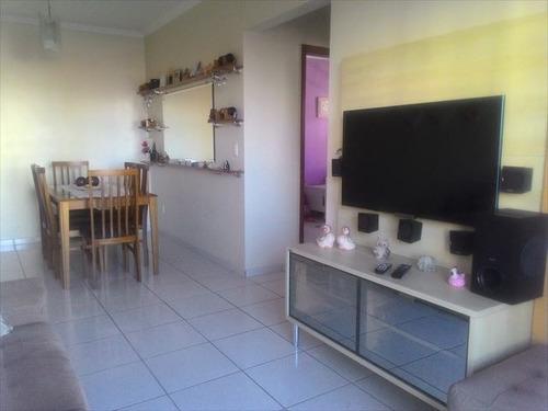ref.: 3534 - apartamento em praia grande, no bairro guilhermina - 2 dormitórios
