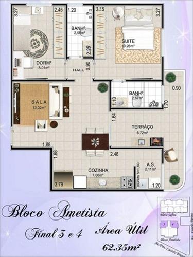 ref.: 36501 - apartamento em praia grande, no bairro impanema mirim - 2 dormitórios