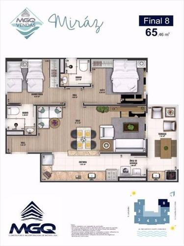 ref.: 3803 - apartamento em praia grande, no bairro caicara - 2 dormitórios