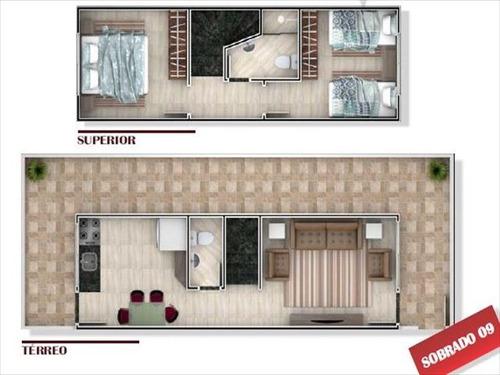 ref.: 3813 - casa condomínio fechado em praia grande, no bairro sitio do campo - 2 dormitórios